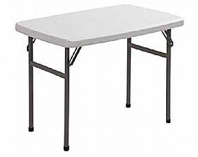 שולחן מתקפל מלבני 1.22 מטר