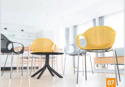 כסא פלסטיק - קוברה רגלי ברזל