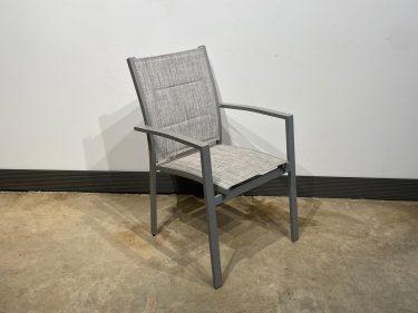 כסא אגם גב פתוח אפור בהיר