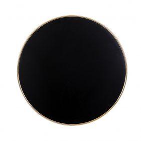 פלטה ורצלית שחורה בתוספת טבעת זהב