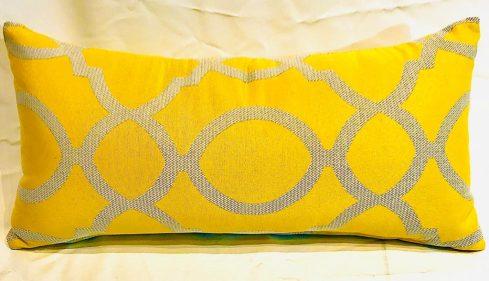 כרית נוי בד סנברלה צהוב דיזיין