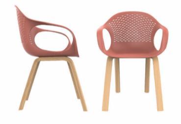 כסא קוברה רגלי עץ