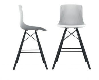 כסא בר מאיה רגליים שחורות