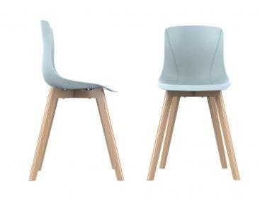 כסא מאיה רגלי עץ