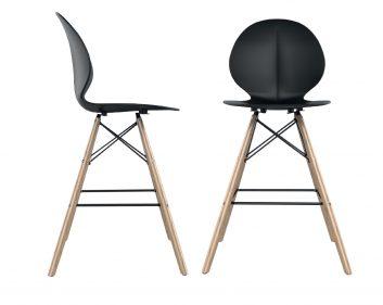 כסא בר פרינס רגלי עץ