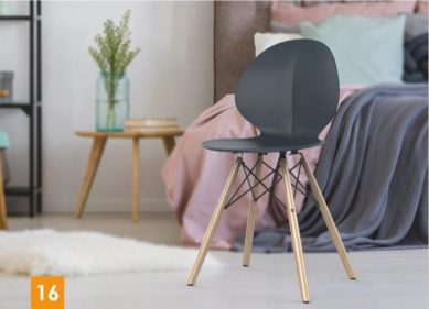 כסא בר דגם פרינס רגלי עץ