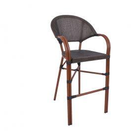 כסא בר פריז צבע חום
