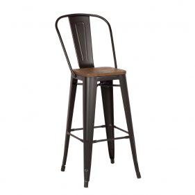 כסא בר טוליקס חום כהה