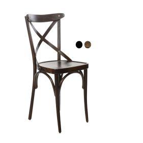 כסא עץ למסעדה - דגם X