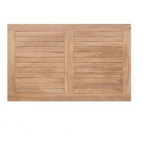 פלטת עץ טיק מלבנית לשולחן