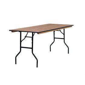 שולחן עץ מתקפל מלבן 200 ס