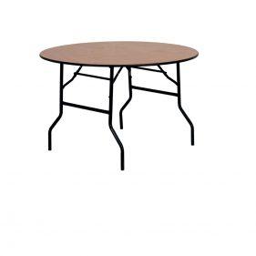 שולחן עץ מתקפל עגול קוטר 160 ס