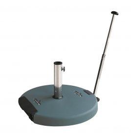 בסיס בטון לשמשייה עם ידית נשיאה וגלגלים - 60 ק