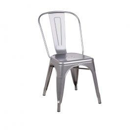 כסא מתכת טוליקס אפור