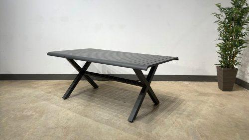 שולחן אירוח גלבוע אפור פחם