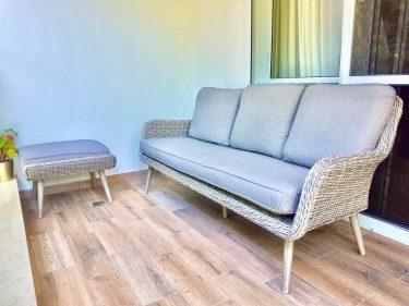 ספה תלת מושבית דגם פרובנס בהיר