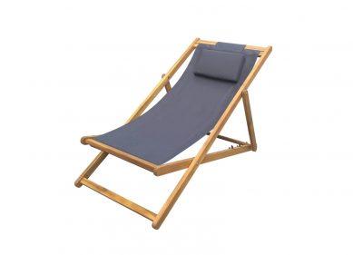 כסא נוח עץ מתקפל