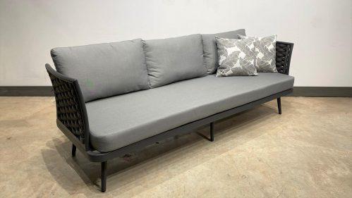 ספה תלת מושבית רופ אפור פחם