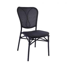 כסא רובר בלי ידיות שחור